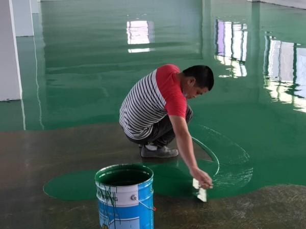 东莞市兆朗顺兴五金有限公司环氧自流平地坪案例