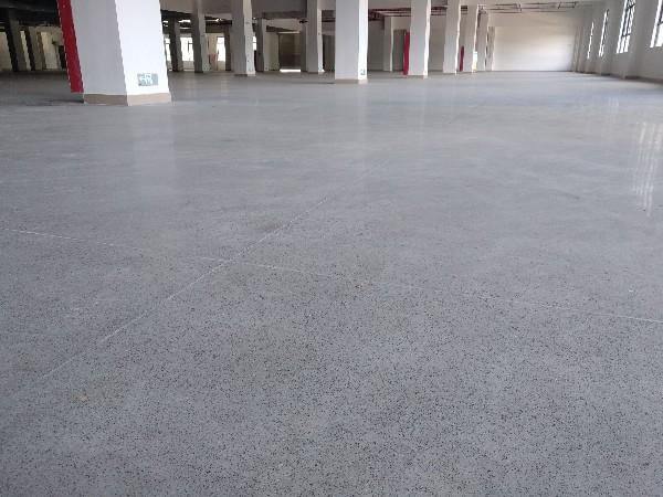 广东广州某科技有限公司金刚砂+密封固化剂地坪案例