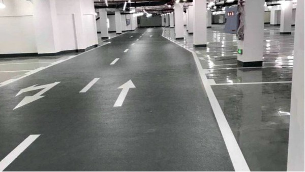 广东中山某地下停车场地坪设计施工案例