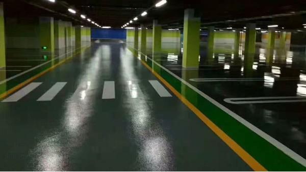 广东梅州某哑光地下停车场地坪案例