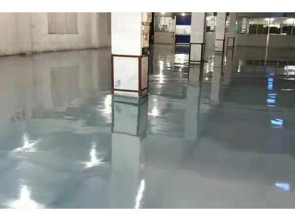 广东江门某纸业有限公司灰色地坪漆案例