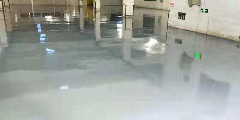 广东江门某纸业公司灰色环氧地坪漆案例4