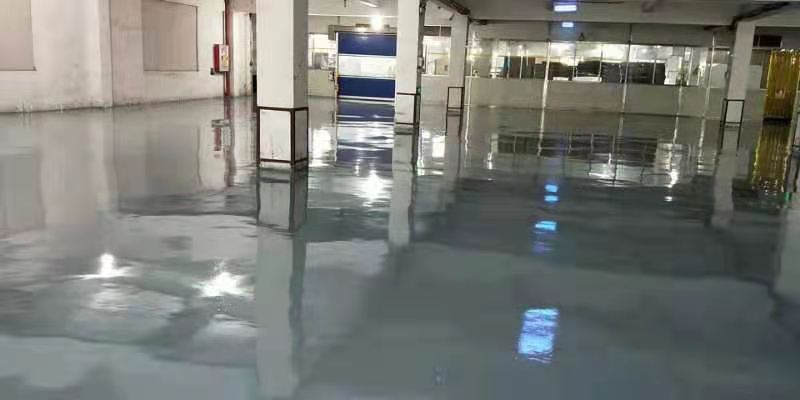广东江门某纸业公司灰色环氧地坪漆案例2
