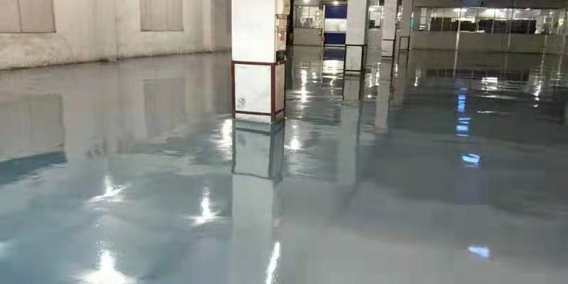 广东江门某纸业公司灰色环氧地坪漆案例