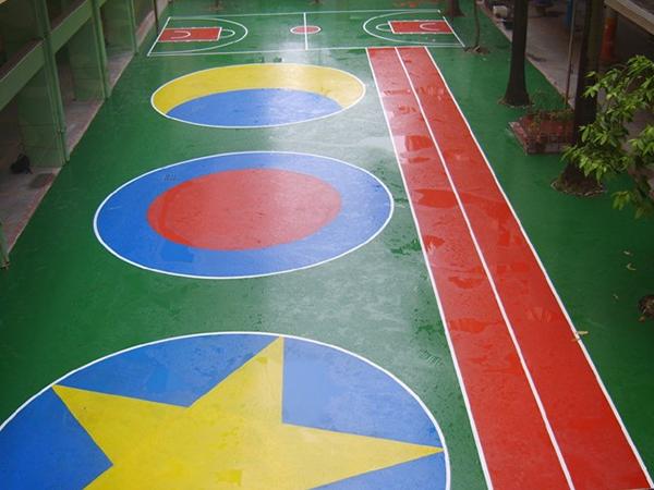 东莞长安塘幼儿园硬性丙稀酸地坪案例