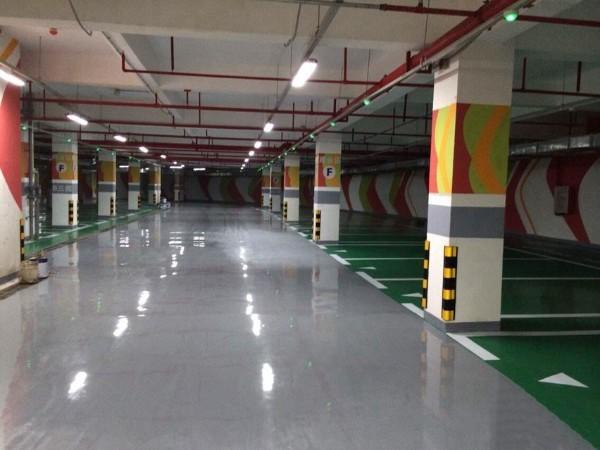 山西侯马市某国际地下停车场环氧砂浆停车场地坪案例